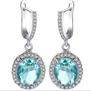 🎀Stunning Aquamarine Drop Earrings